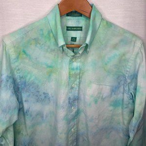 BLUE/GREEN TIE DYE LS BUTTON DOWN OXFORD sz M 15.5